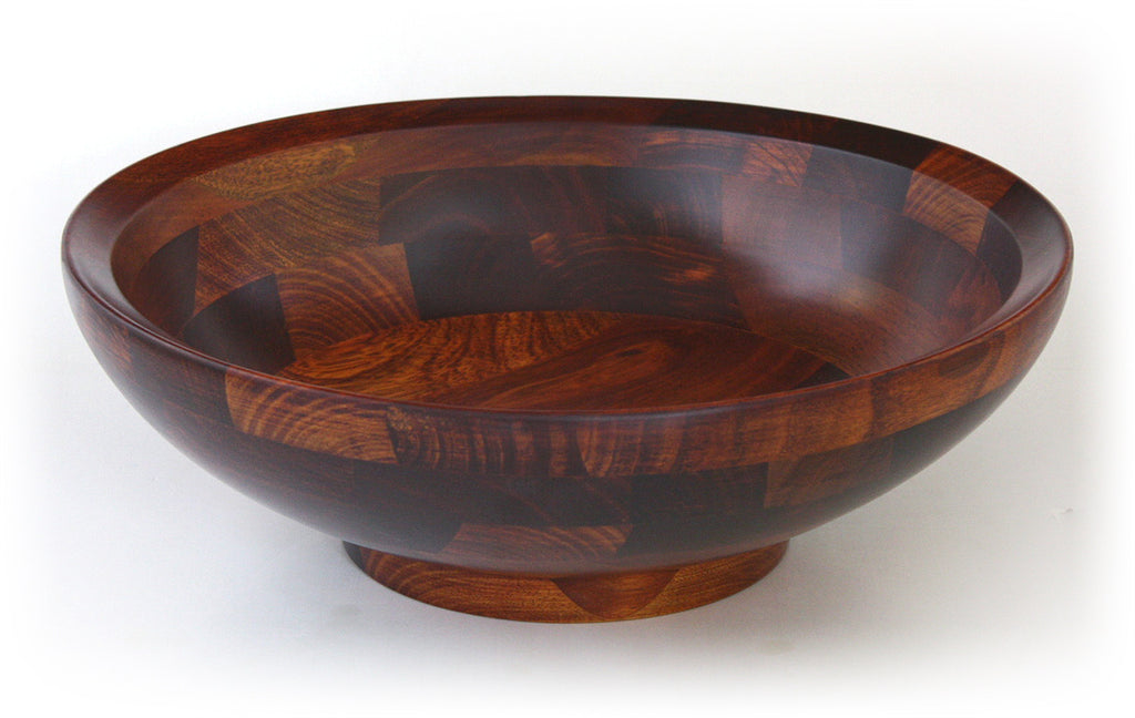 "Mountain Woods 15"" Bevelled Rim Wood Bowl w/ Cherry Finish *Available in other styles/finishes"