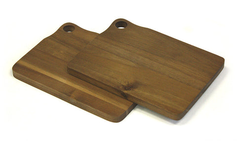 "2 Piece 8"" X 6"" Acacia Bar Cutting Board Set"