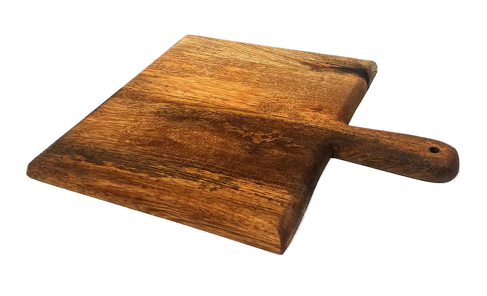 "Mountain Woods Casa Rustic Collection 14"" Square Paddle Cutting & Serving Board"
