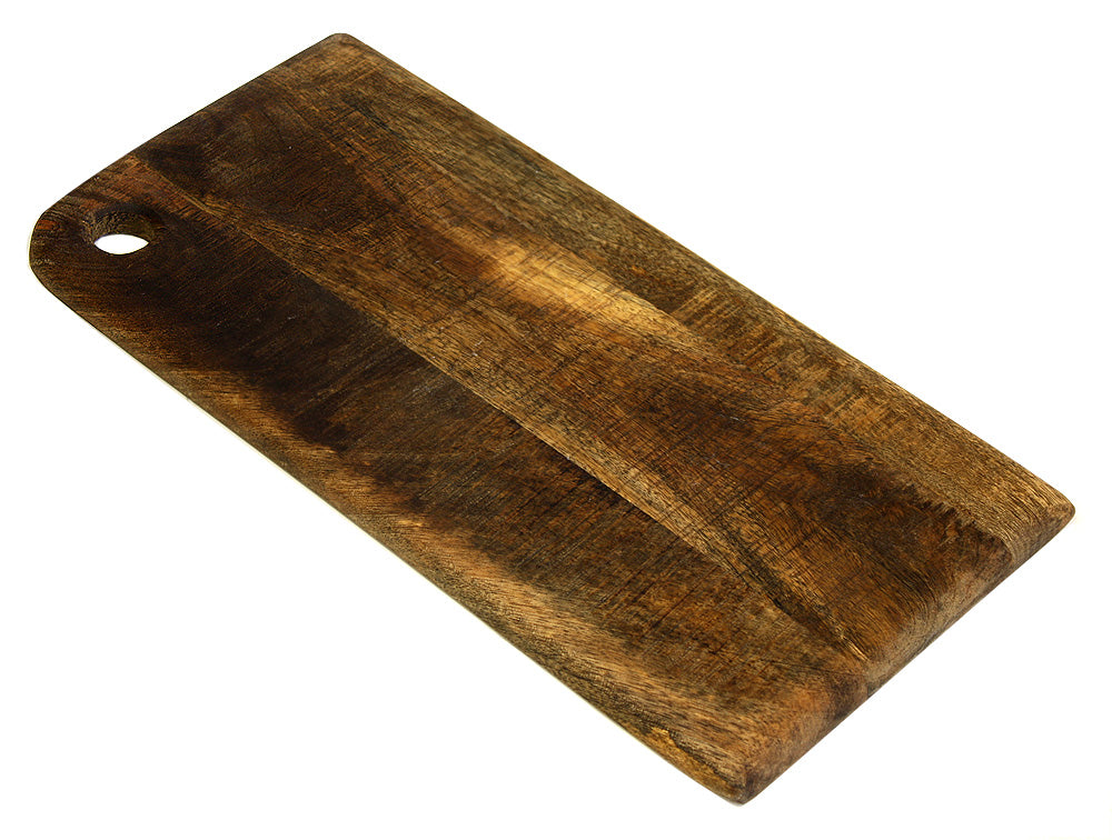 "Medium Organic Hardwood Mango Cutting Board, Best Kitchen chopping Board (Butcher Block) for Meat, Cheese, and Vegetable Serving Tray, 16""X11""X.075"""