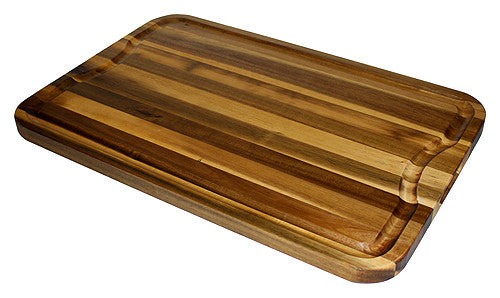 Extra Large Organic Edge-Grain Hardwood Acacia Cutting Board, with Juice groove, Best Kitchen chopping Board (Butcher Block) for Meat, Cheese, & Vegetable Serving Tray with Carved-In Handles, 24x16x1