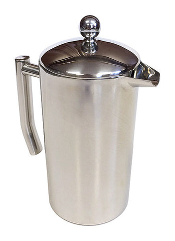 32 Oz. Capri Double Wall Stainless Steel Coffee Press by ZUCCOR