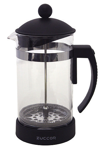 32 Oz. Milano Heat Resistant (Borosilicate) Gourmet Coffee Press by ZUCCOR (BLACK)