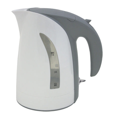 10 Cup / 1.8 Liter White Milano Cordless Electric Kettle by ZUCCOR (BOIL-DRY PROTECTED / U.K. MADE HEAT CONTROL)