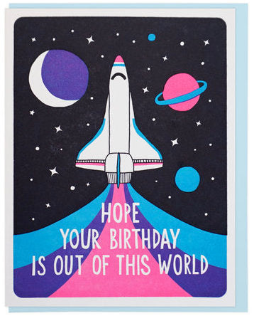 Out Of This World Birthday - Lucky Horse Press Greeting Card - Ottawa, Canada