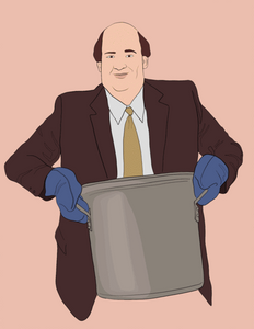 The Office Kevin Chili Greeting Card