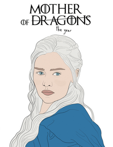 Mother of Dragons - Party Mountain Paper Greeting Card - Ottawa, Canada