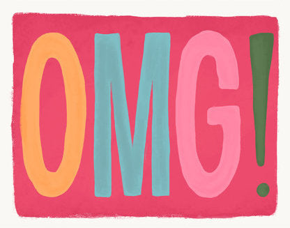 OMG! - Slightly Stationery Greeting Card - Ottawa, Canada