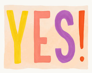 YES! - Slightly Stationery Greeting Card - Ottawa, Canada