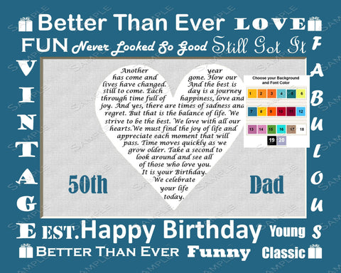 Personalized Birthday Gift For Dad Love Poem Birthday Gift Ideas For Dad Heart 8 X 10 Print