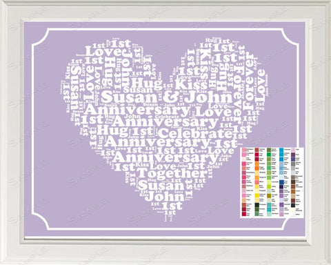 Personalized 1st Anniversary Gift 1st Anniversary Gift Word Art 8 x 10 Print First Anniversary Gift Ideas DIGITAL DOWNLOAD .JPG
