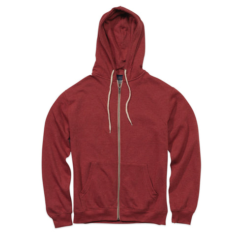 Retro Heather Zip Hood Sweatshirt