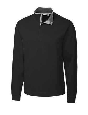 Cutter & Buck Men's Pima Snap Placket Overknit