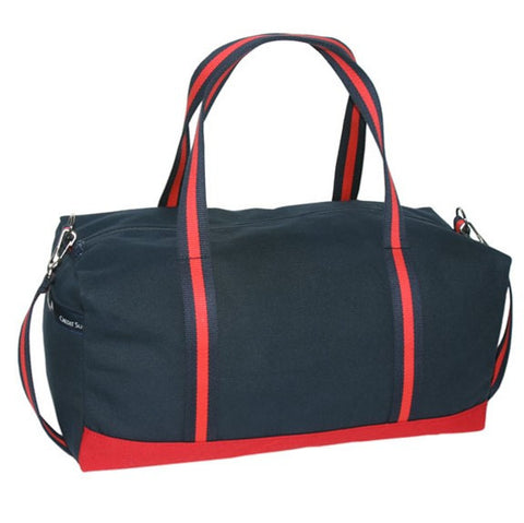 Two-Tone Country Club Duffle with Striped Handles