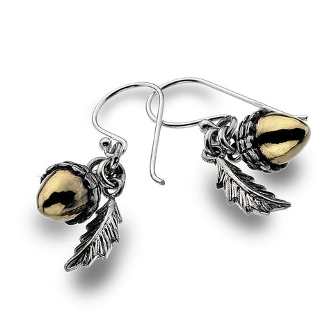 Acorn And Oak Leaf Earrings from the Earrings collection at Argenteus Jewellery