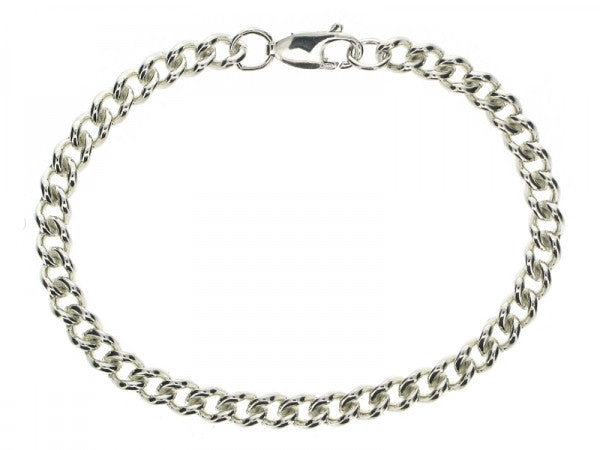 Curb 5.03mm Open Link Necklace or Bracelet from the Bracelets collection at Argenteus Jewellery