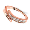 Rose Gold Plate Sculptured Wrap Ring from the Rings collection at Argenteus Jewellery