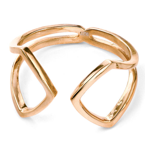 Open Ring - Gold Plate
