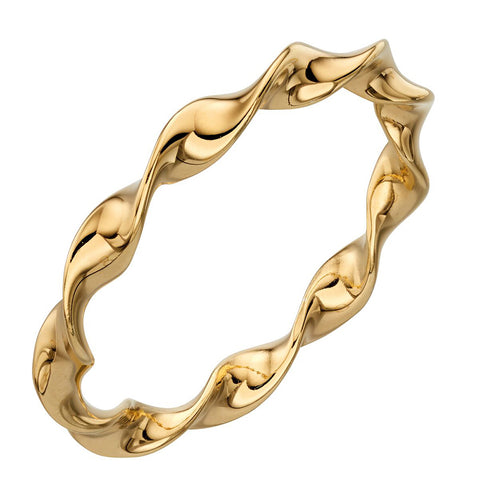 Twist Ring - Yellow Gold-Plate