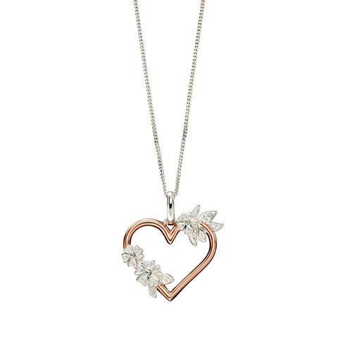 Heart and Flowers Necklace