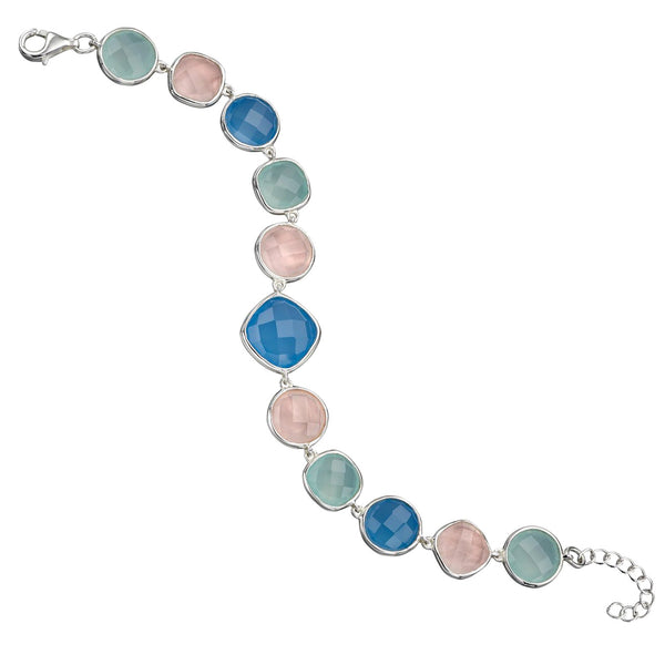 Chalcedony Mix Bracelet from the Bracelets collection at Argenteus Jewellery