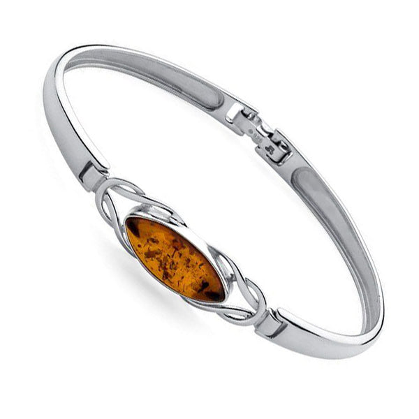 Amber Ellipse Catch Bangle from the Bangles collection at Argenteus Jewellery