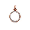 Virtue Keepsake Crystal Locket 10mm - Rose Gold Plate from the Pendants collection at Argenteus Jewellery