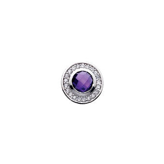 Virtue Keepsake Crystal & Purple Glass Insert 10mm from the Keepsake Inserts collection at Argenteus Jewellery