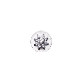 Virtue Keepsake Crystal Flower Insert 10mm from the Keepsake Inserts collection at Argenteus Jewellery