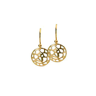 Virtue Keepsake Mosaic Drop Earrings - Yellow Gold Plate