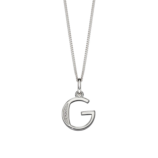 Alphabet Necklace - G from the Necklaces collection at Argenteus Jewellery