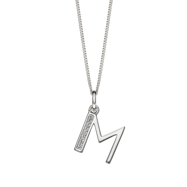 Alphabet Necklace - M from the Necklaces collection at Argenteus Jewellery