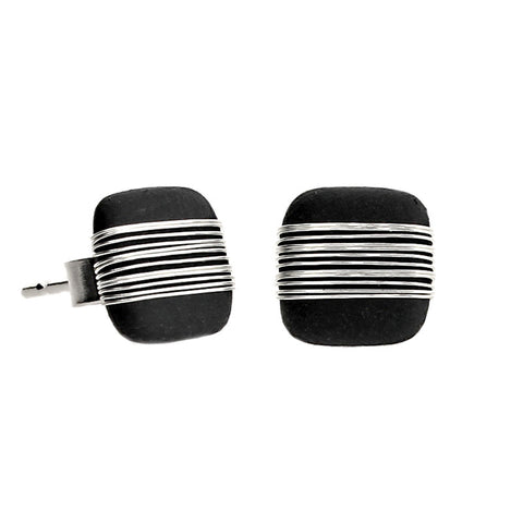 Tracey Birchwood - 9mm Square Bound Stud Earrings