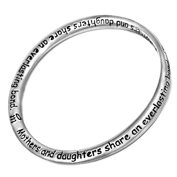 Message Bangle - Mother & Daughter from the Bangles collection at Argenteus Jewellery