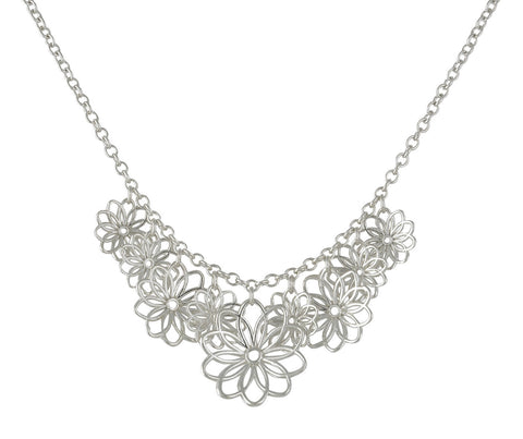 Multi Flower Necklace from the Necklaces collection at Argenteus Jewellery