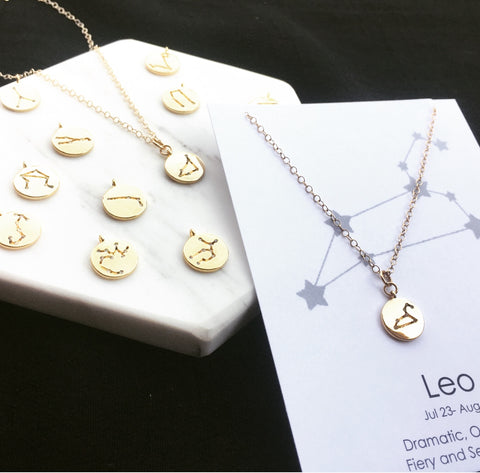 1 Constellation Zodiac Necklace