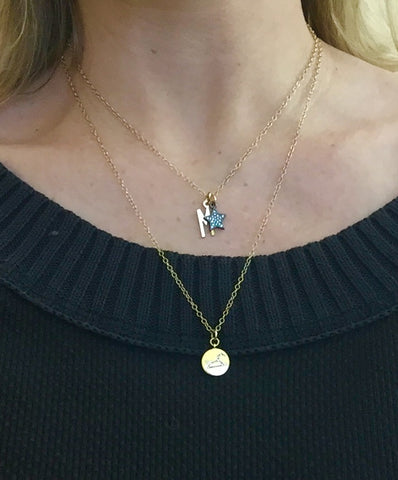 Dainty Initial & Star Necklace Personalize