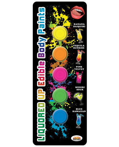 Liquored Up Edible Body Paints - 1.76 Oz Asst. Flavors Pack Of 5