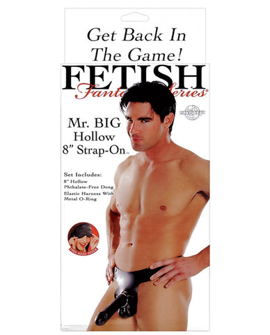 "Fetish Fantasy Series Mr. Big Hollow 8"" Strap On - Black"