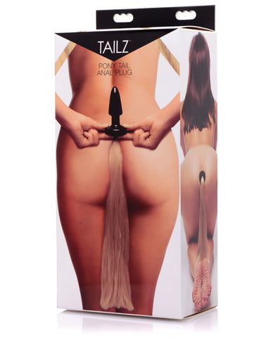 Tailz Pony Tail Anal Plug - Black