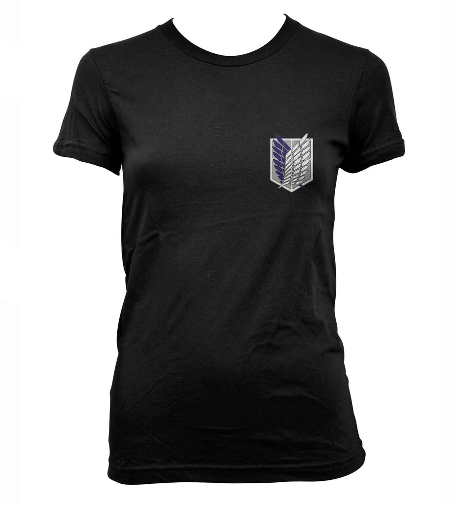 Attack on Titan Blue Ink POCKET On FRONT Singeki no Kyojin Women T-shirt - Meh. Geek - 1