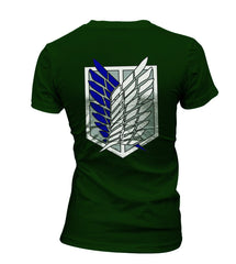 Attack on Titan Blue Ink On BACK Singeki no Kyojin Women T-shirt - Meh. Geek - 2