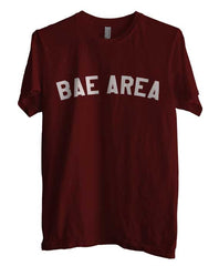 Bae Area Flag Map White Ink Unisex Men T-shirt - Meh. Geek - 4
