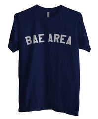 Bae Area Flag Map White Ink Unisex Men T-shirt - Meh. Geek - 1
