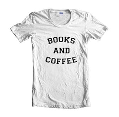 Books and Coffee Women T-shirt - Meh. Geek