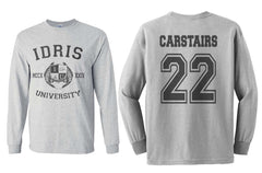 Carstairs 22 Idris University Long Sleeve T-shirt for Men Light Steel - Meh. Geek - 1
