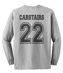 Carstairs 22 Idris University Long Sleeve T-shirt for Men Light Steel - Meh. Geek - 2
