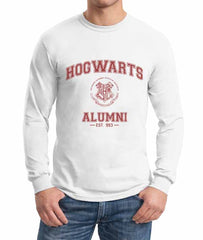 Hogwarts Alumni #3 Maroon ink Long Sleeve T-shirt for Men HA3