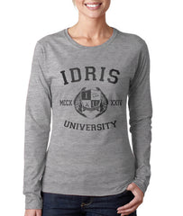 Carstairs 22 Idris University Long Sleeve T-shirt for Men Light Steel - Meh. Geek - 3
