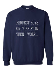 Perfect Boys only Exist In Teen Wolf Unisex Crewneck Sweatshirt - Meh. Geek
